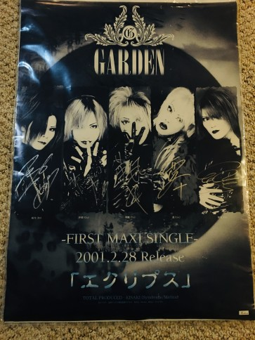 GARDEN - エクリプス poster (SIGNED)