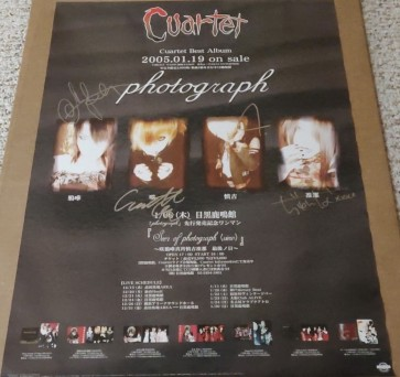 Cuartet - photograph poster (SIGNED)