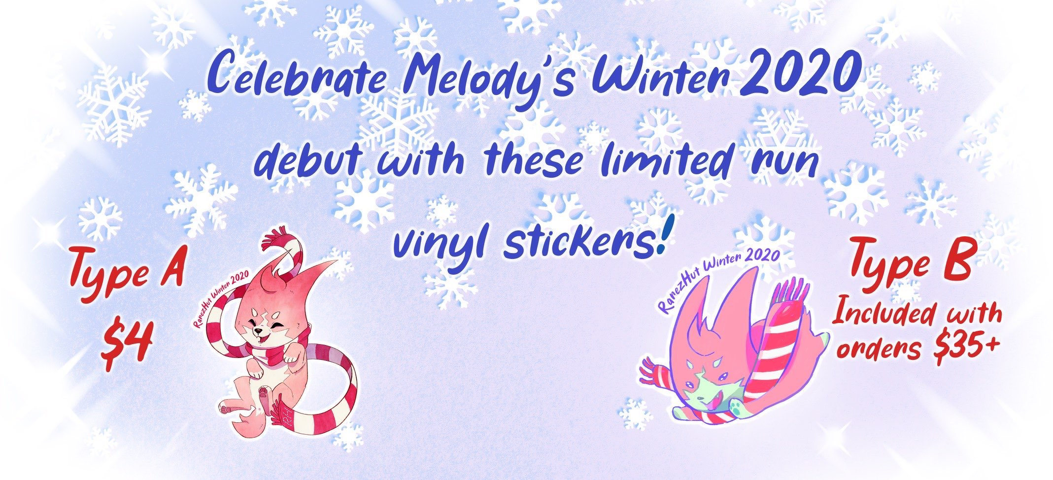 Click to buy our lovely vinyl stickers!